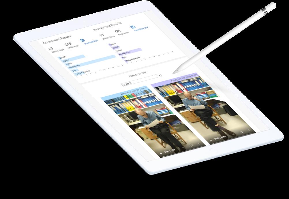 KELVIN-PD app on an iPad with pen